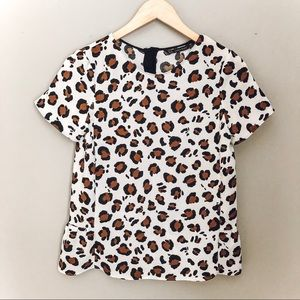 Zara Basic Leopard Top